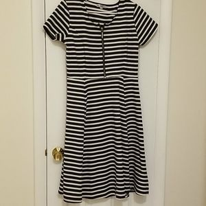 Downeast blue and white striped dress